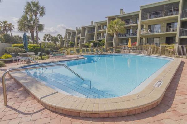 Island South Condos Resort Pool in St Augustine