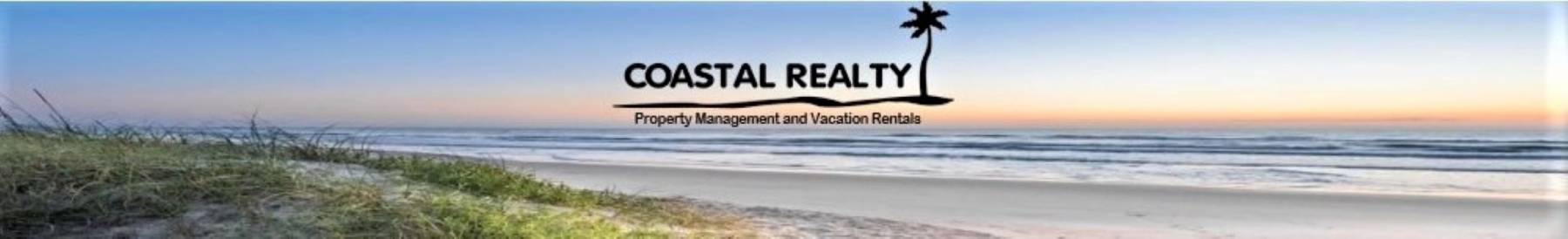 coastal realty vacation rentals icon with beach in the background