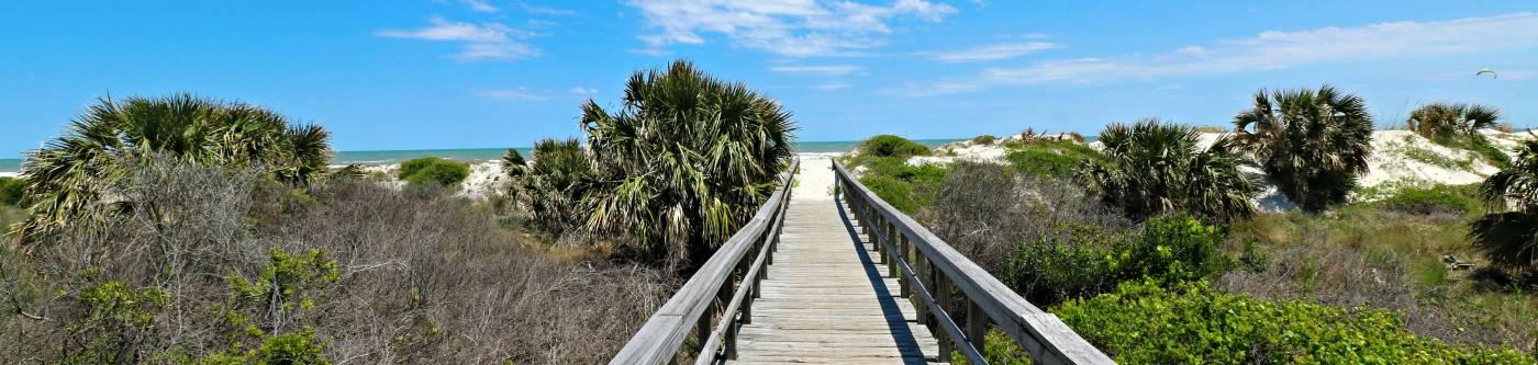 boardwalk to beach from st augustine beach and tennis resort