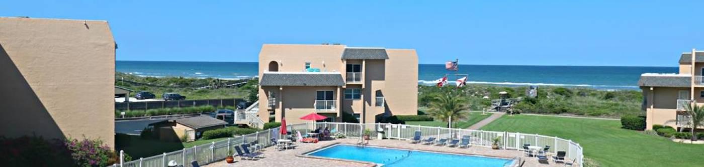 view of creston house condominiums pool and the atlantic ocean