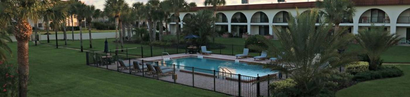 Ocean Club II in st augustine florida view of pool area from patio